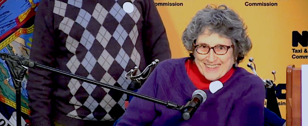 Jean Ryan at Accessible Dispatch Press Conference