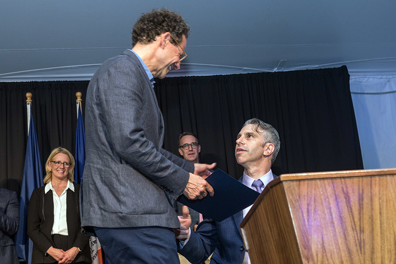 Image of Public Service Award accepted by Whitney Museum of American Art representative Adam D. Weinberg, Whitney Museum Director