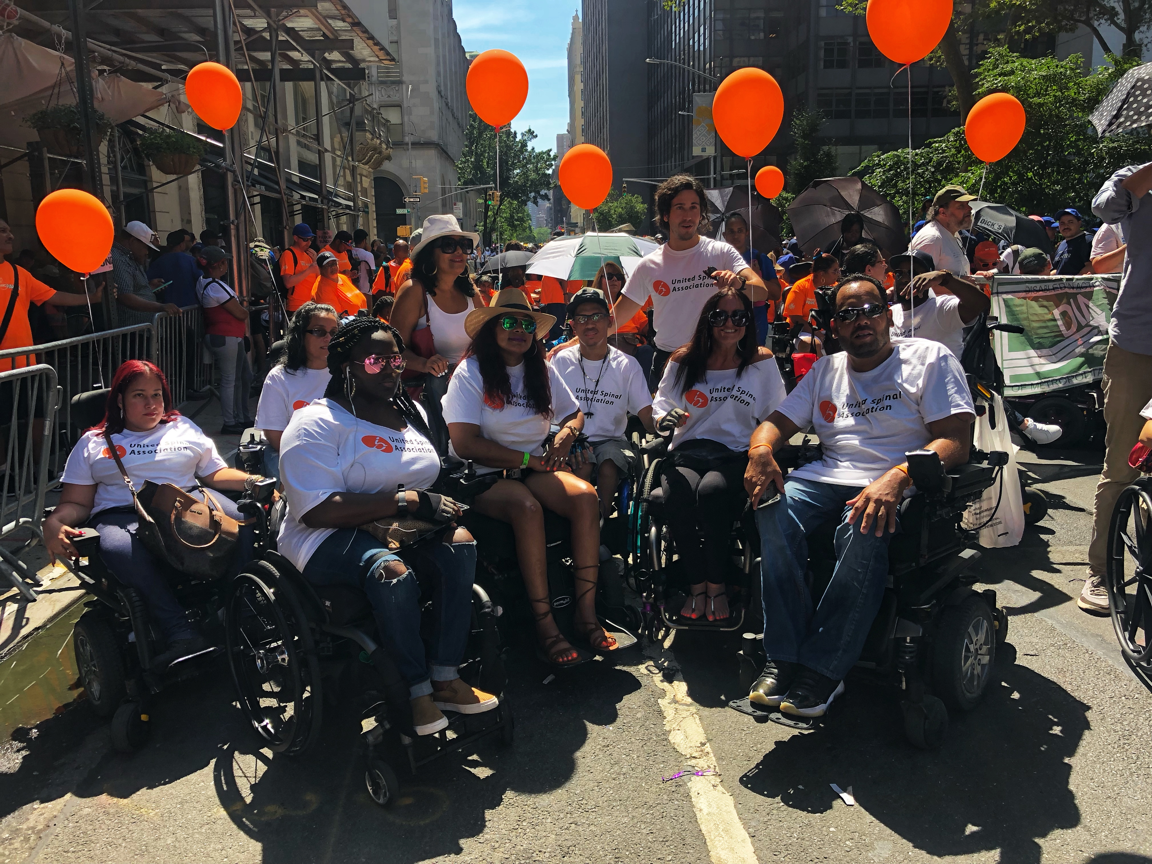United Spinal volunteers at Disability Pride Parade in New York City